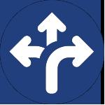 diverging arrows icon for corporate wellness san antonio tx