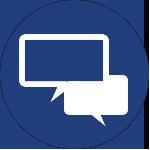 two conversation bubbles icon for san antonio tx corporate wellness program