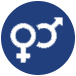 gender symbols icon for adult co-ed san antonio kickball leagues