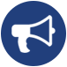 megaphone icon for social events for san antonio ssc social coordinator